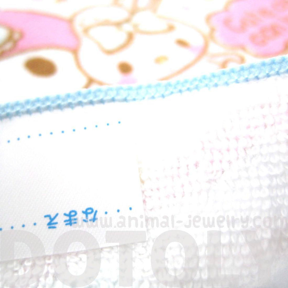 Tiny My Melody Bunny Rabbit and Heart Print Handkerchief Face Towel