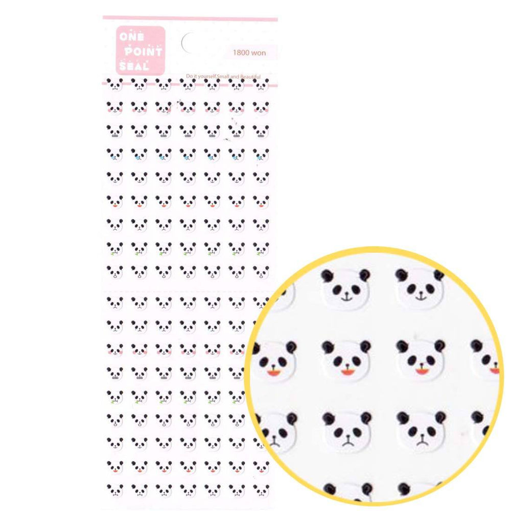 Tiny Panda Bear Face Shaped Animal Sticker Envelope Seals for Scrapbooking | DOTOLY