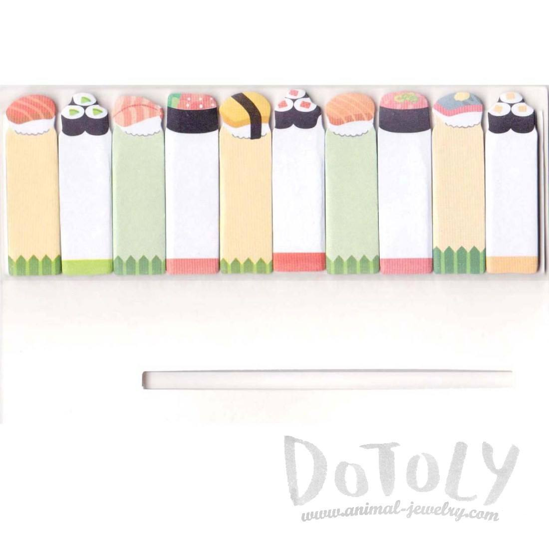 Sushi Roll Food Themed Memo Post-it Index Bookmark Tabs From Japan