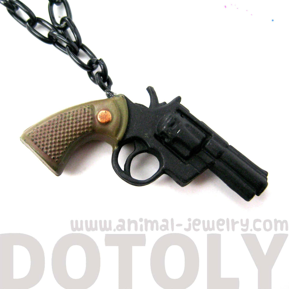Toy Gun Pistol Revolver Shaped Pendant Necklace | DOTOLY