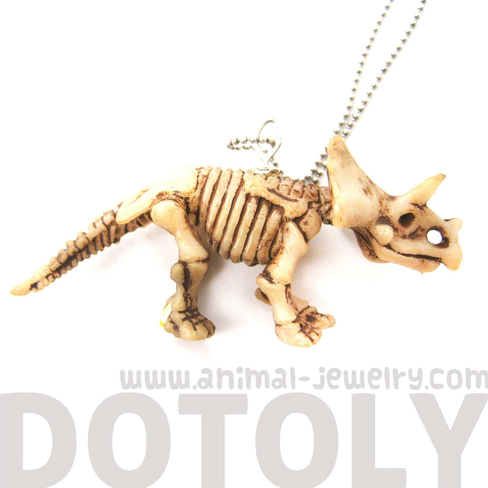 triceratops-dinosaur-fossil-skeleton-pendant-necklace-animal-jewelry