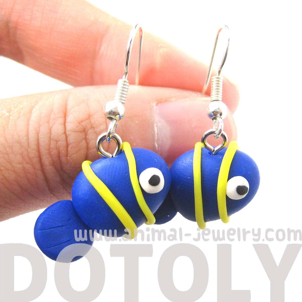 Tropical Fish Shaped Animal Themed Polymer Clay Dangle Earrings | DOTOLY