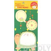 Turtle Speech Bubble and Clock Shaped Adhesive Post-it Memo Pad
