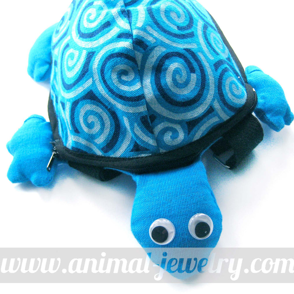 Turtle Tortoise Shaped Animal Cross Body Bag in Bright Blue | DOTOLY | DOTOLY