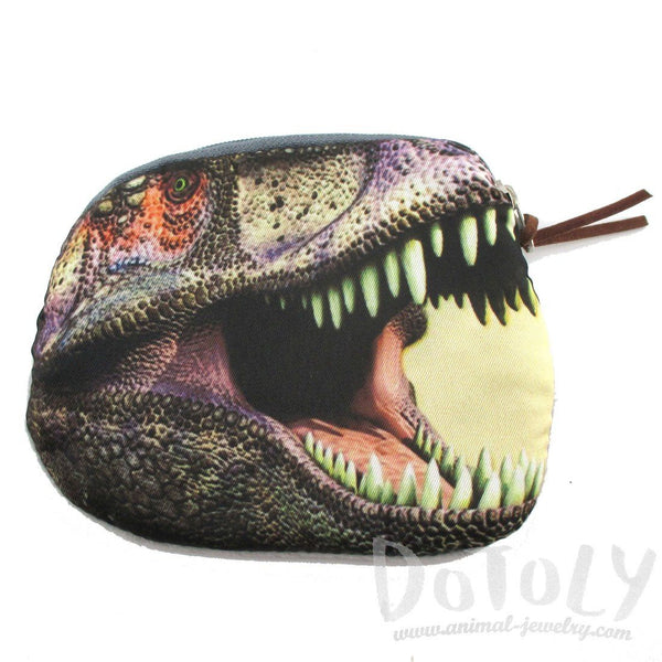 Tyrannosaurus Rex Dinosaur Shape Coin Purse Make Up Bag