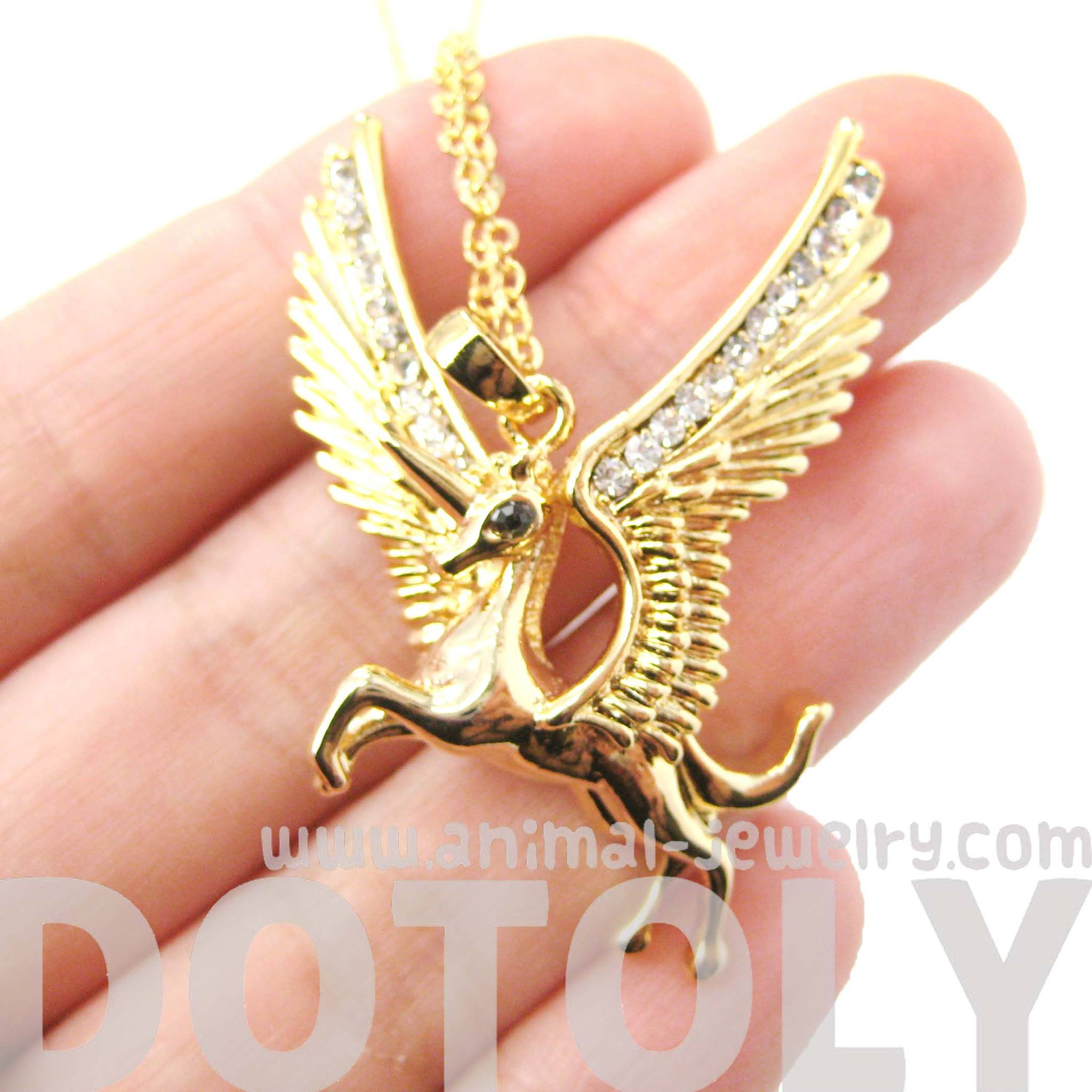 unicorn-horse-animal-pendant-necklace-in-gold-with-large-wings-animal-jewelry