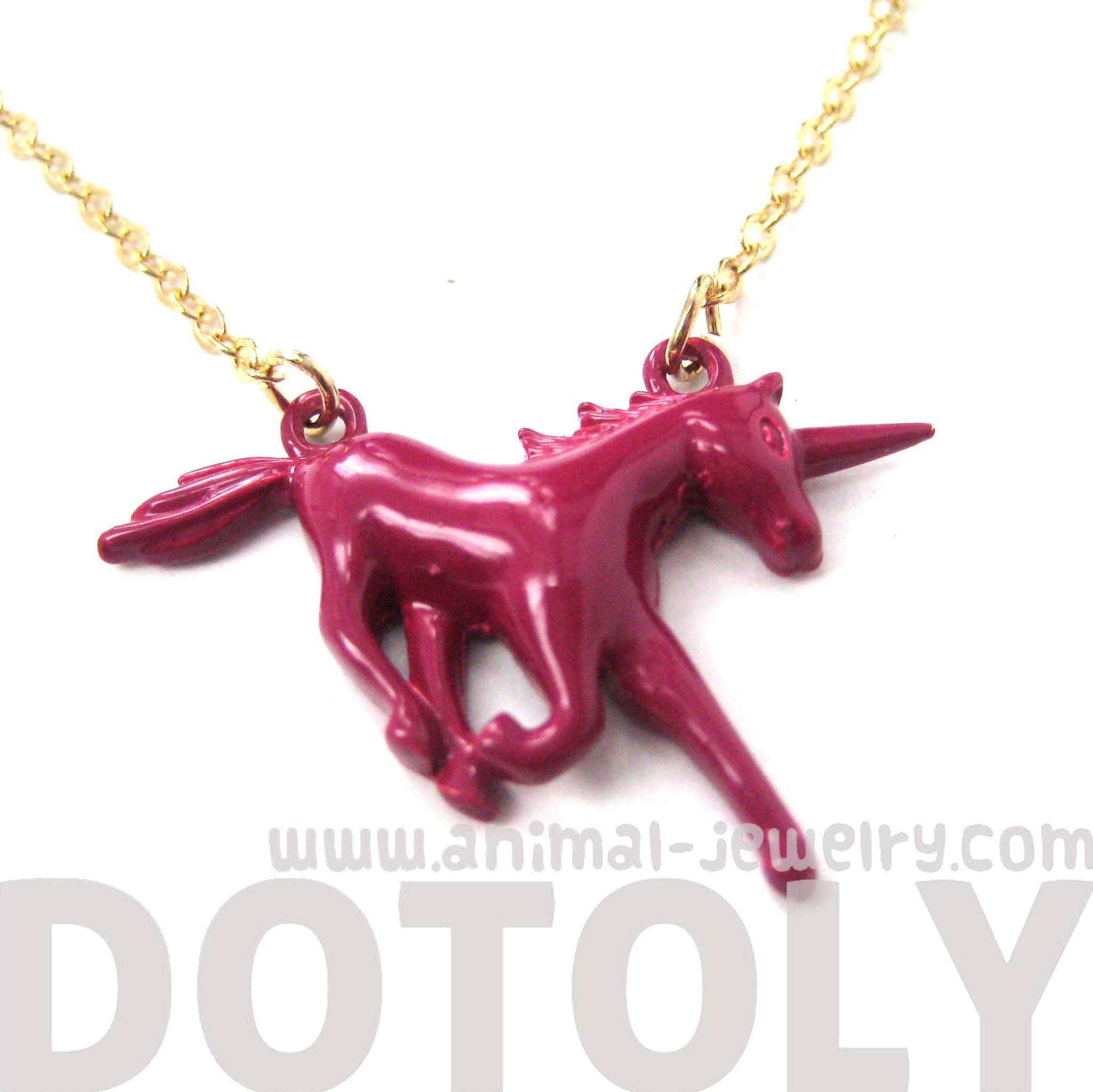 unicorn-horse-animal-pendant-necklace-in-maroon-red-animal-jewelry