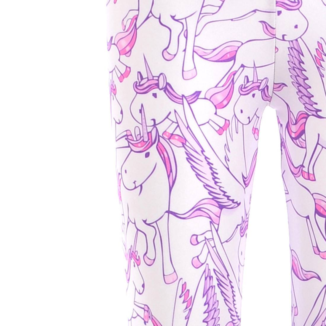 Unicorn Pegasus White Horse Digital Print Comfy Stretch Leggings