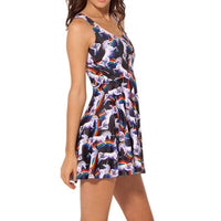 Unicorns and Rainbows All Over Print Sleeveless Skater Dress | DOTOLY