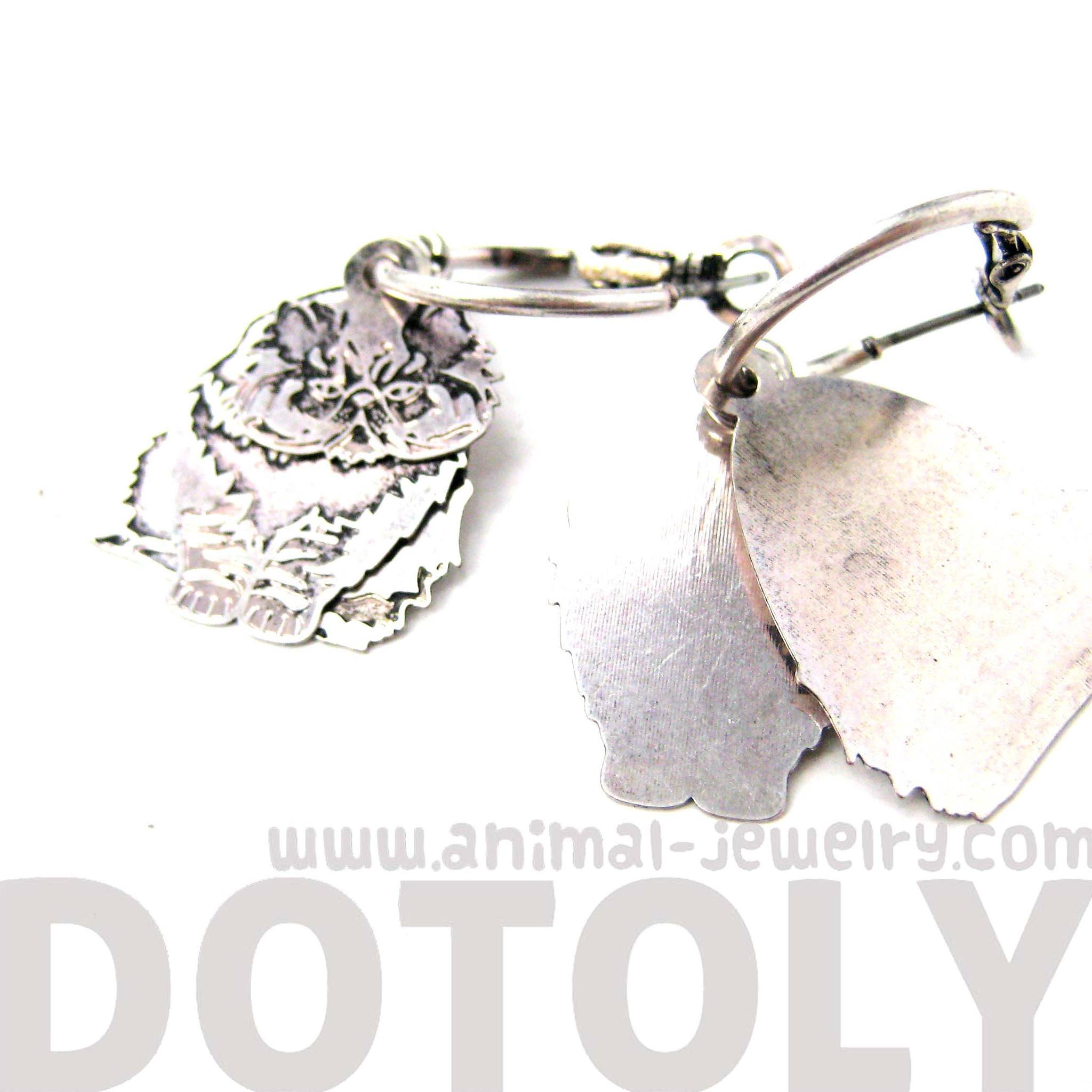 unique-3d-persian-kitty-cat-shaped-dangle-earrings-in-silver-animal-jewelry