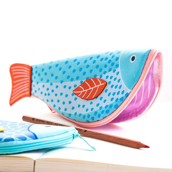 Unique koi fish shaped animal themed pencil case makeup for Fish pencil case