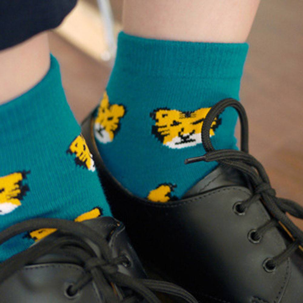 Unique Tiger Animal Graphic Print Cotton Ankle Socks for Women | DOTOLY | DOTOLY