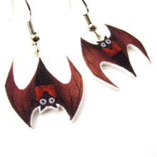 upside-down-bat-watercolor-animal-dangle-earrings-handmade-shrink-plastic