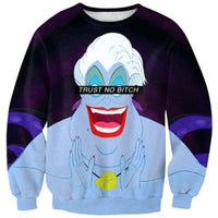 Ursula Disney Villains Trust No Bitch Print Sweatshirt
