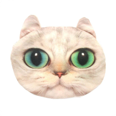 White Kitty Cat Face Shaped
