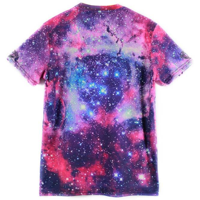 Kitty Cat Lost in Space Galaxy Nebula Print Graphic Tee