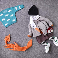 White Swan Shaped Wrap Around Fleece Scarf for Kids and Adults | DOTOLY