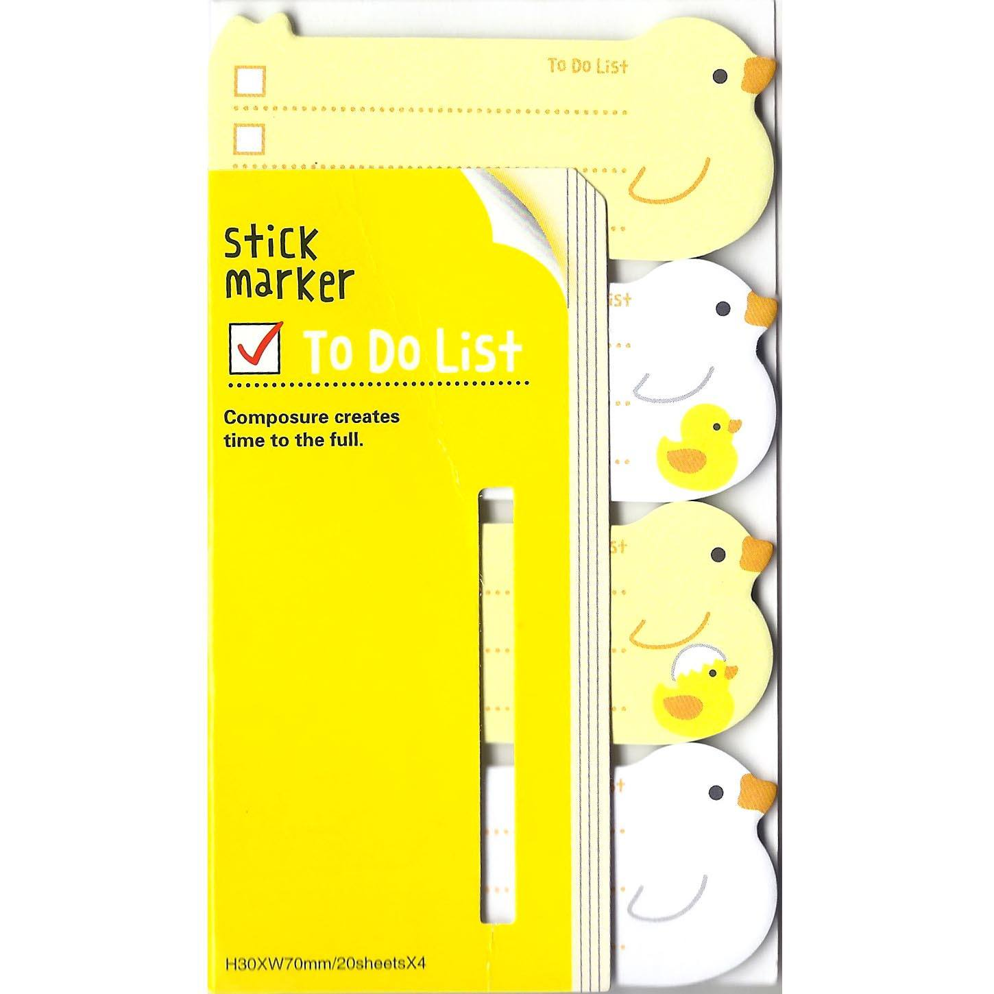 Yellow Ducks Birds Shaped Animal Themed Memo Post-it Sticky Note Pad