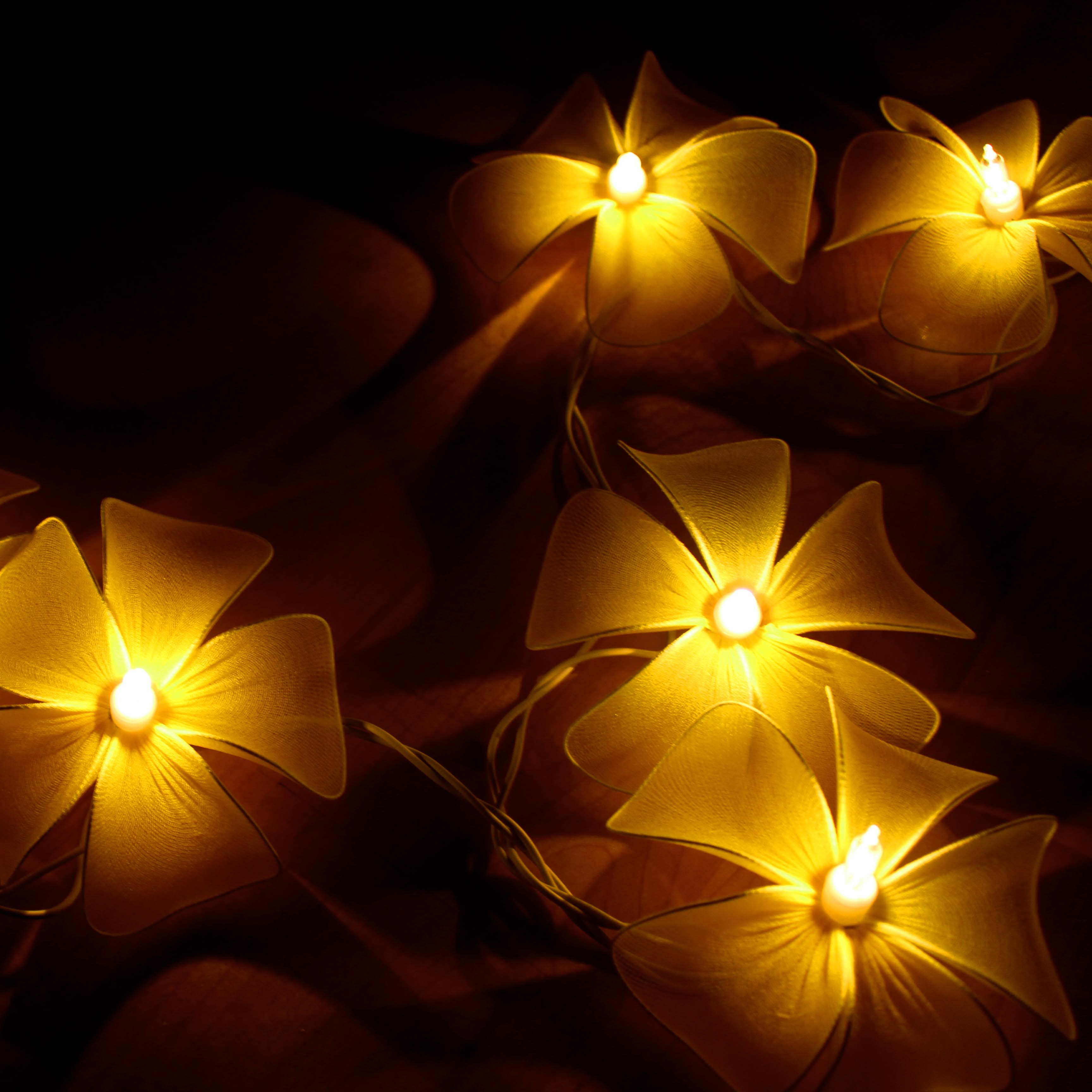 yellow-floral-flower-handmade-string-lights