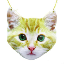 Yellow Kitty Cat Face Shaped Vinyl Cross Body Bag