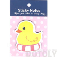 Yellow Rubber Duck on a Floaty Shaped Animal Adhesive Post-it Memo Pad