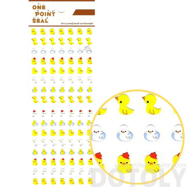 Yellow Rubber Ducky Animal Sticker Envelope Seal for Scrapbooking