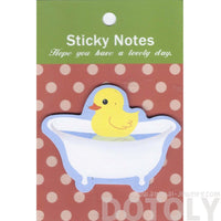 Yellow Rubber Ducky in a Bathtub Shaped Animal Sticky Post-it Memo Pad