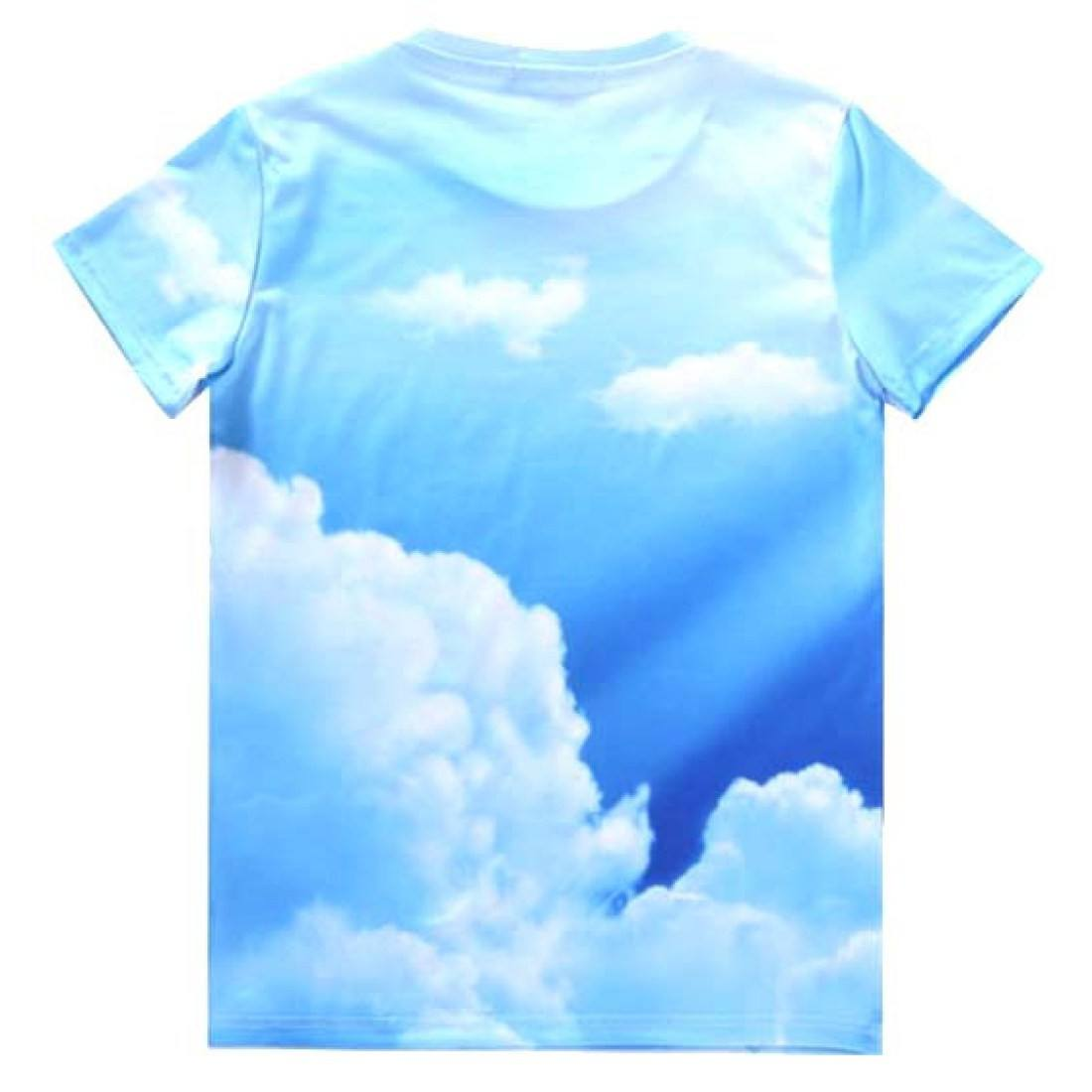 Yoga Zen Frog in The Sky All Over Graphic Print T-Shirt