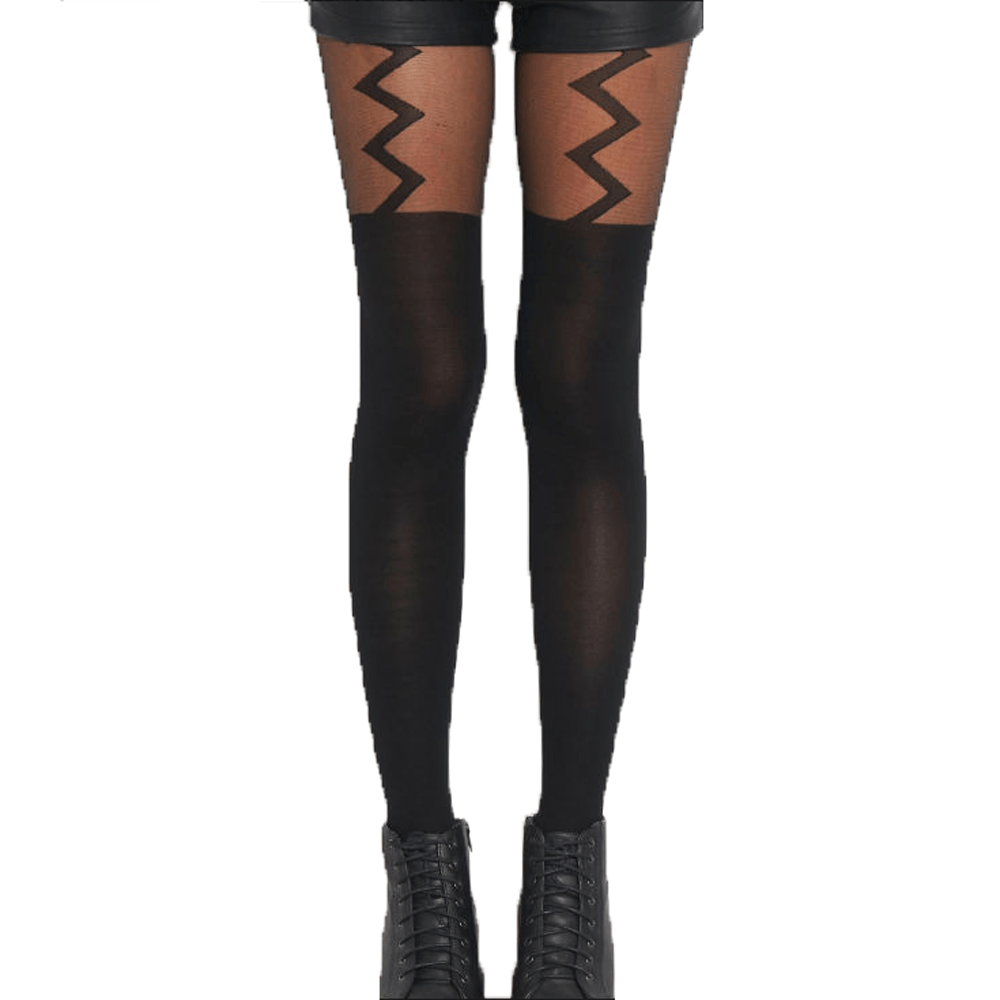 zig-zag-faux-suspender-thigh-high-garter-sheer-tights-for-women-dotoly