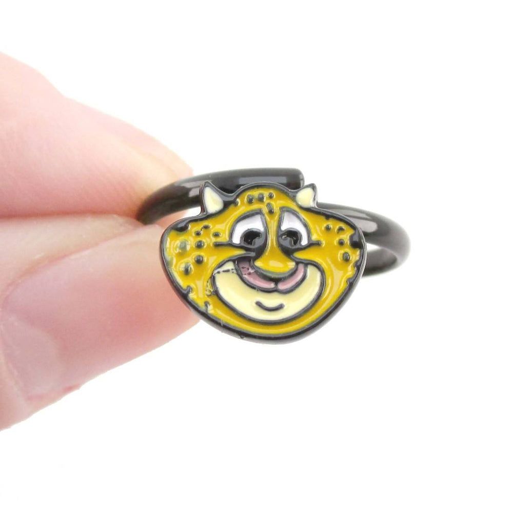 Zootopia Clawhauser Cheetah Shaped Adjustable Ring | DOTOLY
