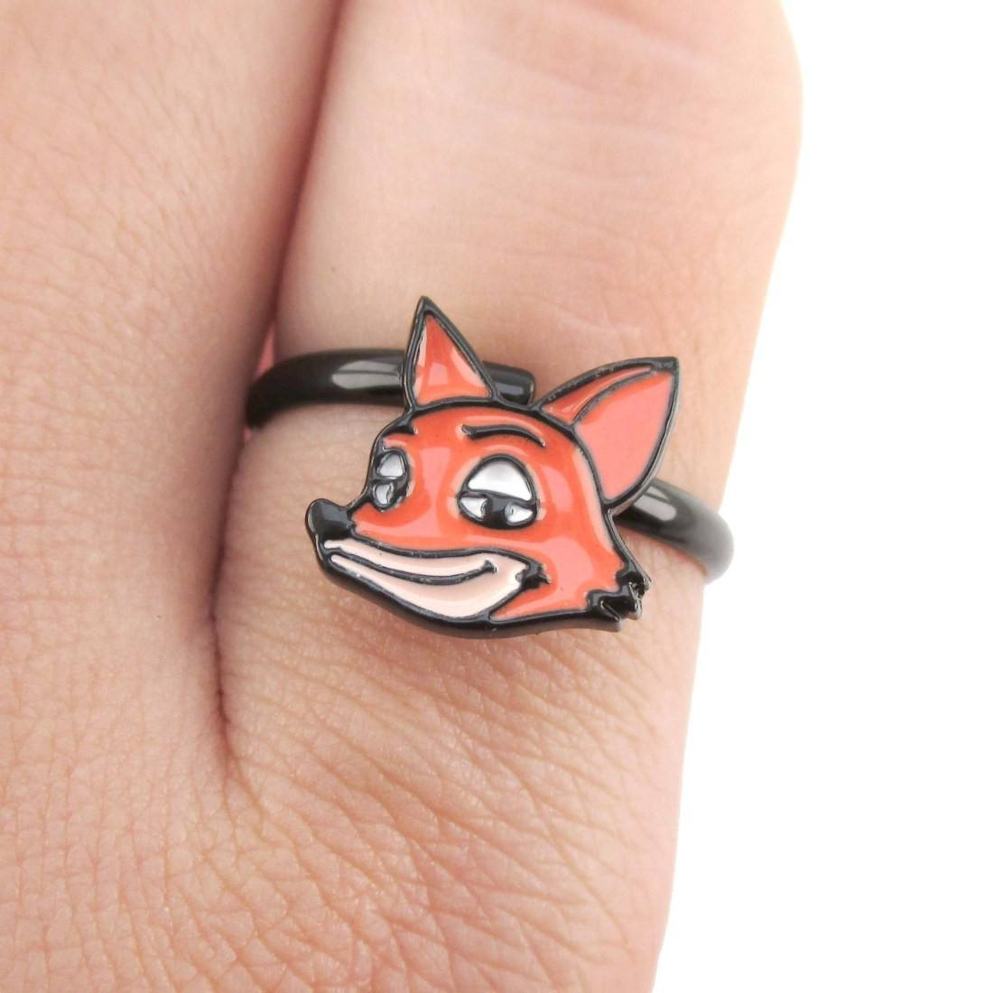 Zootopia Nick Wilde Red Fox Shaped Adjustable Ring | DOTOLY