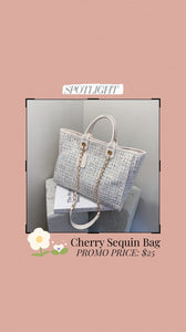 Cherry Sequin Bag