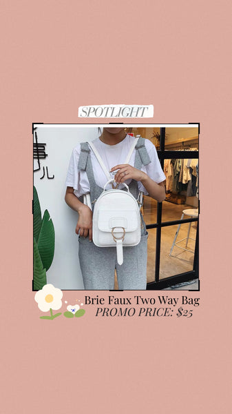 Brie Faux Two Way Bag