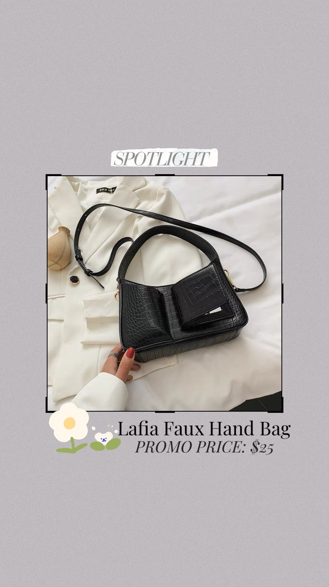 Lafia Faux Hand Bag