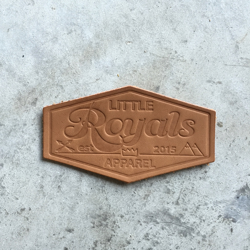 Custom Real Leather Patches (Debossed or Embossed)