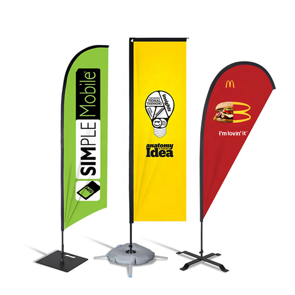 Custom Feather Flags, Fast Delivery + Cheap Prices! BrandSick.com