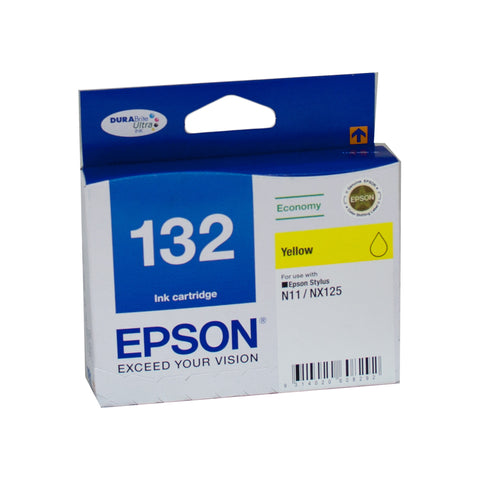 Your Ink Solution's Genuine OEM Epson 132 Yellow Ink Cartridge