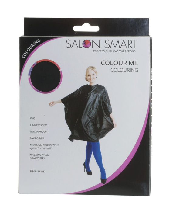 Salon Smart Colour Me Cape - Black