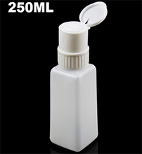 Load image into Gallery viewer, PUSH PUMP ~ 250ml PLASTIC SQUARE ~ POLISH REMOVER CONTAINER ~ NAIL TOOLS Collection