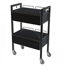 Load image into Gallery viewer, 2 DRAWER ~ BEAUTY TROLLEY ~ BLACK ~ JOIKEN Collection