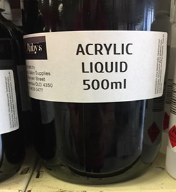 ACRYLIC LIQUID ~ VARIOUS SIZES ~ RUBY'S Collection