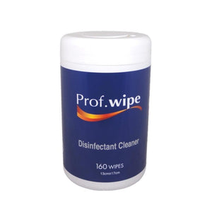 Prof Wipe Disinfectant Cleaner Wipes 160pk