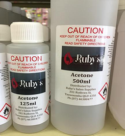 ACETONE ~ VARIOUS SIZES ~ RUBY'S Collection
