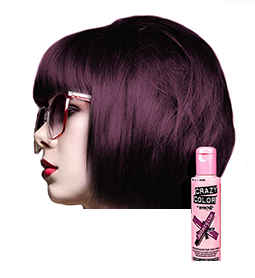 CRAZY COLOUR AUBERGINE ~ SEMI-PERMANENT HAIR COLOUR CREAM ~ CRAZY COLOR Collection