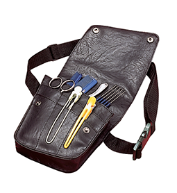 KASHO BLACK LEATHER TOOL POUCH ~ SCISSOR POUCHES & BAGS Collection