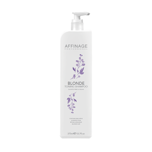 Affinage Blonde Toning Shampoo 375ml ~ Cleanse & Care Range