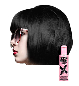 CRAZY COLOUR BLACK ~ SEMI-PERMANENT HAIR COLOUR CREAM ~ CRAZY COLOR Collection