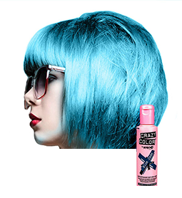 CRAZY COLOUR BLUE JADE ~ SEMI-PERMANENT HAIR COLOUR CREAM ~ CRAZY COLOR Collection
