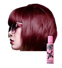 CRAZY COLOUR BORDEAUX ~ SEMI-PERMANENT HAIR COLOUR CREAM ~ CRAZY COLOR Collection