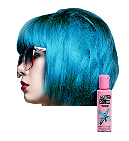 CRAZY COLOUR BUBBLEGUM BLUE ~ SEMI-PERMANENT HAIR COLOUR CREAM ~ CRAZY COLOR Collection